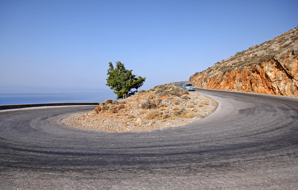 Driving in Crete- Chora Sfakion road