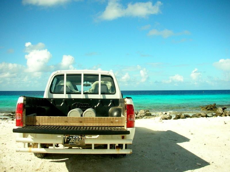 rental car on the beach- Platanias Ariston Hotel Chania Crete