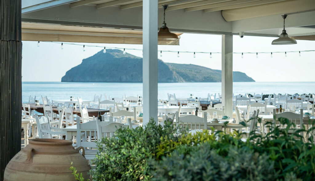 Thodorou island - sea view restaurant Olive Tree-Platanias, Chania