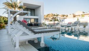 Swimming Pool areas -hotel Platanias Ariston in Chania, Crete, Greece