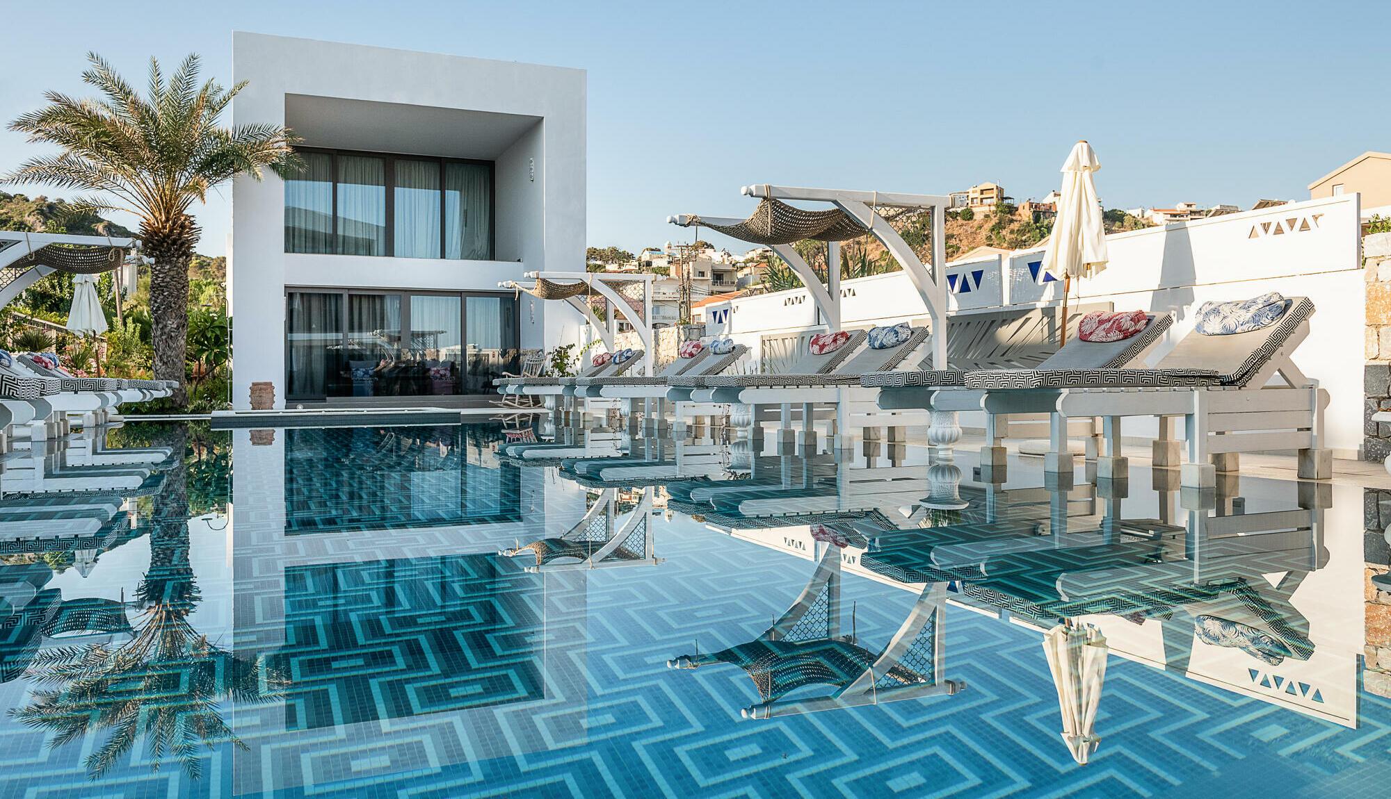 Platanias Ariston Hotel in Platanias Chania Crete- Main View swimming pool
