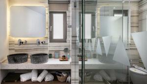 Bathroom areas- Platanias hotel- Platanias Ariston