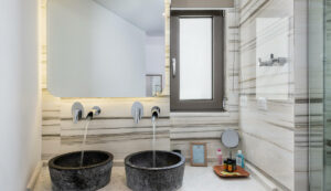 Luxury hotels in Chania- Luxury bathroom and faucets