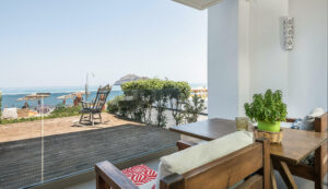 sea view hotels in Platanias- View of thodorou island in Chania, Crete- Platanias Ariston Hotel