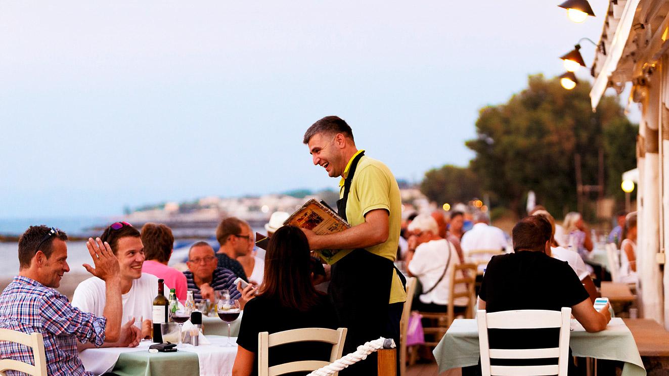 Cretan Cuisine- Olive Tree restaurant in Platanias, Chania, Crete- Sea view restaurant in Chania
