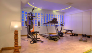 Hotels with gym and spa in Chania, Platanias Ariston Hotel- Gym room