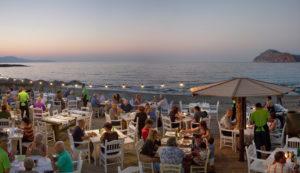 Sea view Restaurants in Platanias - Olive Tree restaurant