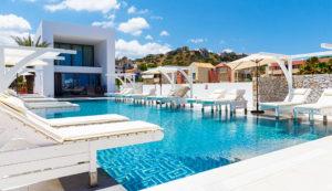 Platanias Ariston Hotel with spa in Platanias, Chania- Swimming Pool Area