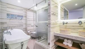 Platanias Ariston hotel in Platanias, Chania- Bathroom area